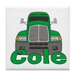 Trucker Cole Tile Coaster