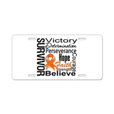 Leukemia Survivor Aluminum License Plate