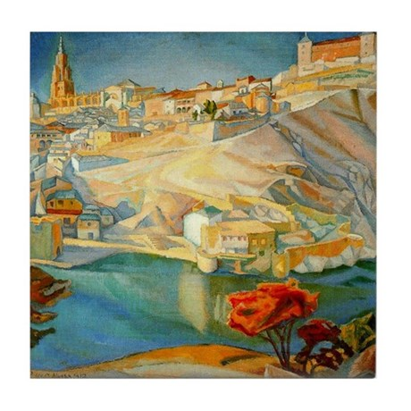 Diego Rivera Toledo Art Tile Ceramic Coaster