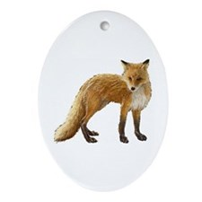 Fox Ornament (Oval)