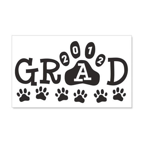 Grad 2012 Paws 22x14 Wall Peel