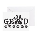 Grad 2012 Paws Greeting Card