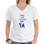 Young Adult Book Lovers Women's V-Neck T-Shirt