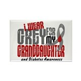 I Wear Grey 6 Diabetes Rectangle Magnet (10 pack)