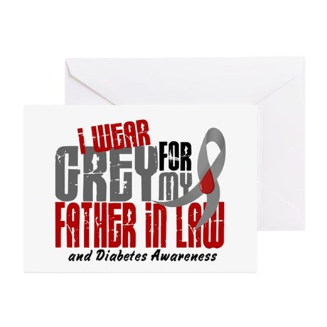 I Wear Grey 6 Diabetes Greeting Cards (Pk of 10)