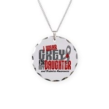 I Wear Grey 6 Diabetes Necklace