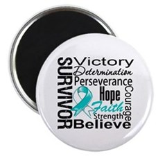 "Cervical Cancer Survivor 2.25"" Magnet (100 pack)"