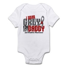 I Wear Grey 6 Diabetes Infant Bodysuit