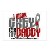 I Wear Grey 6 Diabetes Postcards (Package of 8)