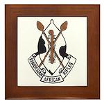 Rhodesian African Rifles Framed Tile