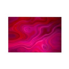 Brilliant Pink Abstract Rectangle Magnet (100 pack
