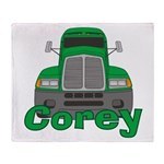 Trucker Corey Throw Blanket