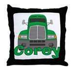 Trucker Corey Throw Pillow