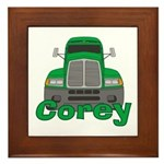 Trucker Corey Framed Tile