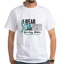 I Wear Teal White 10 Cervical Cancer Shirt
