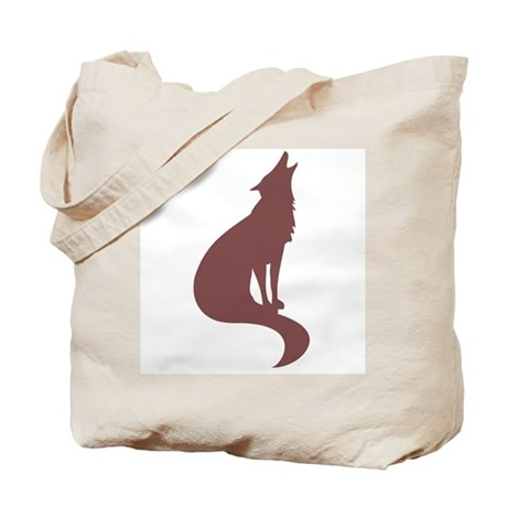Brown Wolf Tote Bag