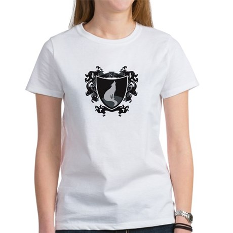 Black Wolf Shield Women's T-Shirt