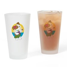 Cute Puppy Hawaii Drinking Glass