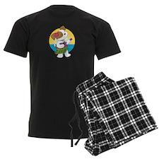 Cute Puppy Hawaii Pajamas