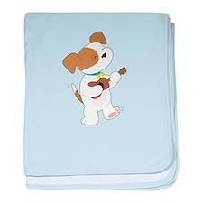Cute Puppy Ukulele baby blanket