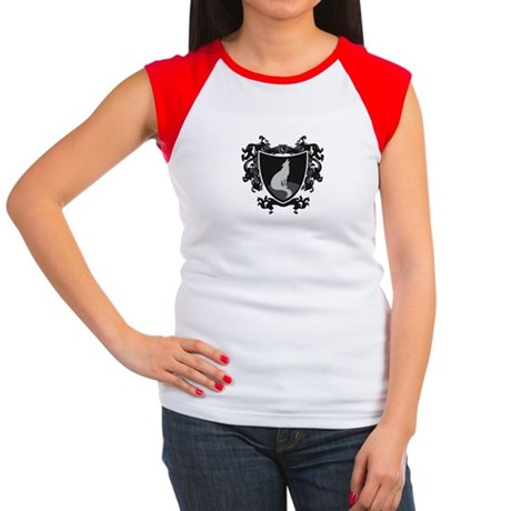 Black Wolf Shield Women's Cap Sleeve T-Shirt