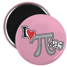 I heart (love) Pi Day PINK Magnet