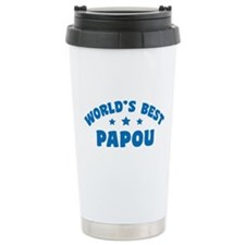 World's Best Greek Papou Ceramic Travel Mug