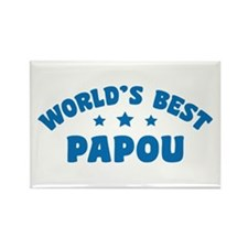 World's Best Greek Papou Rectangle Magnet