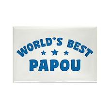 World's Best Greek Papou Rectangle Magnet