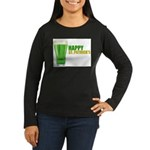St Patricks Day Women's Long Sleeve Dark T-Shirt
