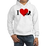 I Love Women Hooded Sweatshirt
