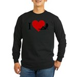 I Love Women Long Sleeve Dark T-Shirt