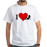 I Love Women White T-Shirt