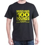 Missing 100 Black T-Shirt