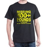 Missing 100+ Black T-Shirt