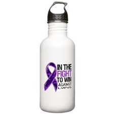 In The Fight Lupus Water Bottle