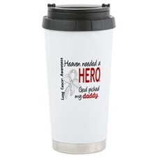 Heaven Needed a Hero Lung Cancer Ceramic Travel Mu