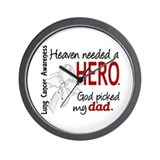 Heaven Needed a Hero Lung Cancer Wall Clock
