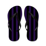 Purple and Black Pinstripe Flip Flops