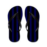 Blue and Black Pinstripe Flip Flops