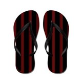 Red and Black Pinstripe Flip Flops