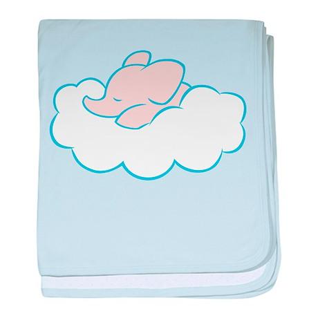 Elephant Dream (pink) baby blanket