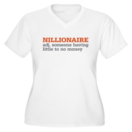 nillionaire Women's Plus Size V-Neck T-Shirt