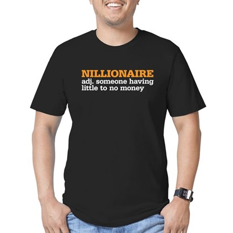 nillionaire Men's Fitted T-Shirt (dark)