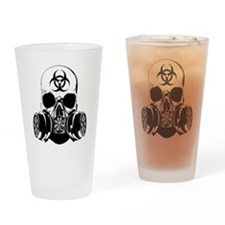 Biohazard Zombie Skull Drinking Glass