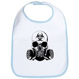Biohazard Zombie Skull Bib
