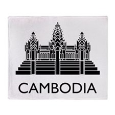 Cambodia Angkor Wat Throw Blanket