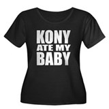 Kony Ate My Baby Women's Plus Size Scoop Neck Dark