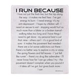 I Run Because Throw Blanket