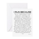 I Run Because- Congratulations Card